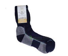 Surtex ponožky froté - 95 % merino- černo-šedo-tyrkysové