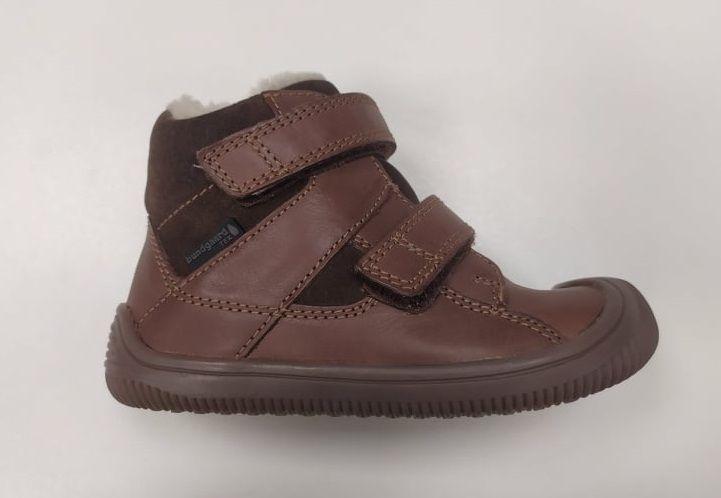 Barefoot Zimní boty Bundgaard Walk Velcro Tex Mink Brown bosá