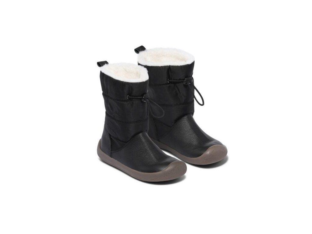 Barefoot Zimní boty Bundgaard Walker PULL TEX BLACK bosá