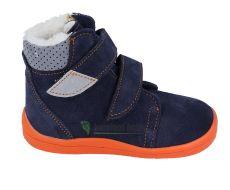 Beda Barefoot - Blue mandarine - zimní boty s membránou model 2020