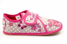 Ef barefoot slippers 394 BUTTERFLY GREY - closed