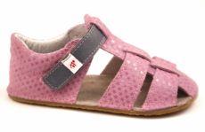 Ef barefoot sandálky - růžové s šedou