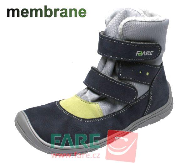 Barefoot FARE BARE DĚTSKÉ ZIMNÍ NEPROMOKAVÉ BOTY B5541261 bosá