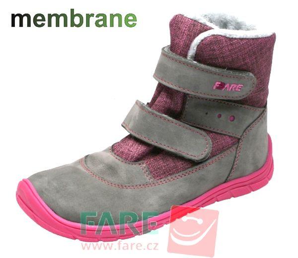 Barefoot FARE BARE DĚTSKÉ ZIMNÍ NEPROMOKAVÉ BOTY B5541262 bosá