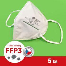 Respirátor / Filtrační polomaska FFP3 5 ks