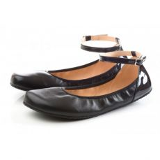Barefoot SHAPEN Barefoot balerínky TULIP II Black bosá
