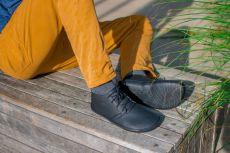 Barefoot Kotníkové boty AYLLA TIKSI černé L - užší, unisex bosá