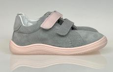 Baby bare shoes Febo Spring grey pink