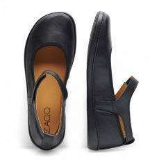 Barefoot Balerínky ZAQQ BANQUET nappa black bosá