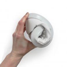 Barefoot Barefoot tenisky Anatomic bílé s bílou podrážkou - mesh bosá