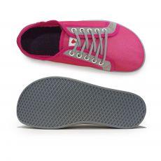 Barefoot Barefoot tenisky Anatomic růžové s šedou podrážkou - mesh bosá