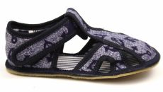 Ef barefoot slippers 386 denim with anchor - open