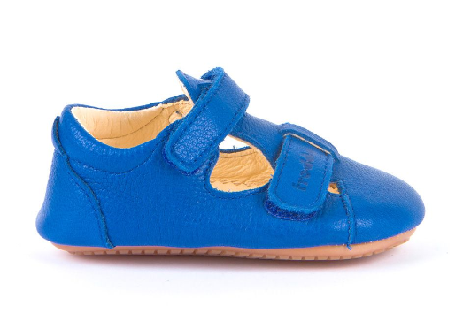 Barefoot Froddo prewalkers sandálky blue electric - suché zipy bosá