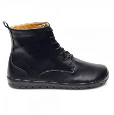 Barefoot Kožené boty ZAQQ QUINTIC Black bosá