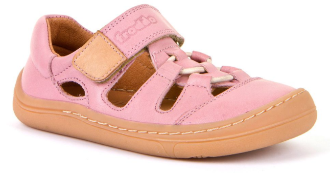 Barefoot Froddo barefoot sandálky Pink - 1 suchý zip bosá
