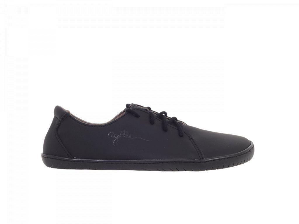 Barefoot Kožené boty AYLLA INCA černé L - užší, unisex bosá