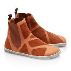 Kožené boty ZAQQ QEY WEST Cognac