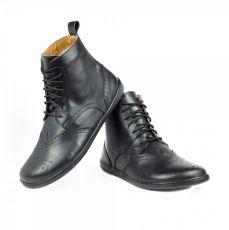 Barefoot Kožené boty ZAQQ QUINTIC BROGUE Black bosá