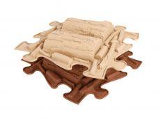 Orthopedic floor MUFFIK puzzle Logs | blue