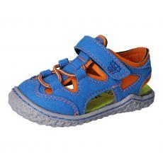 Barefoot sandals RICOSTA Kenny azure / papaya | 20, 21, 22, 23, 24