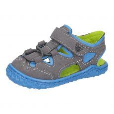 Barefoot sandals RICOSTA Kenny graphite / sky | 20, 21, 22, 23, 24, 25, 26