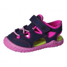 Barefoot sandals RICOSTA Kenny ocean / neonpink | 21, 22, 23, 24, 25