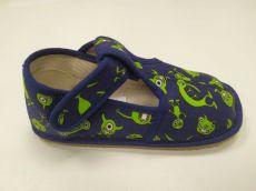 Beda barefoot - narrower velcro slippers - monsters | 22, 23, 24, 25, 26, 27, 28, 29, 30, 31, 32, 33, 34