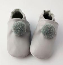 Lait et Miel gray slippers with pompom