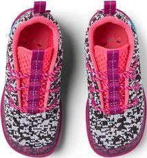 Barefoot Dětské barefoot boty Affenzahn Lowcut Knit Flamingo - Black/White/Pink bosá