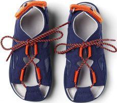 Barefoot Dětské barefoot sandály Affenzahn Sandal Vegan Elephant-Blue bosá