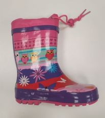 Wolf boots with owls | 23, 25, 29