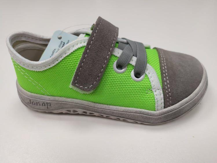 Barefoot Jonap barefoot plátěnky AIRY zelená SLIM bosá