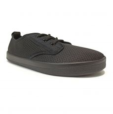 Barefoot sneakers Anatomic black mesh with black  sole AAM01 | 36, 41, 42