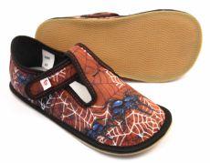 Ef barefoot papučky 395 Black spider
