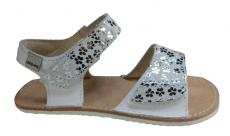 OKBARE barefoot sandals Mirisa D203 G white / white glitter | 27