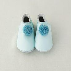Lait et Miel blue slippers with pompom