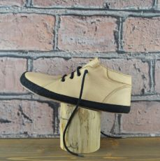 Year-round shoes - Barefoot Pegresky for adults - beige with black trench | 38, 39