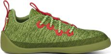 Children's barefoot shoes Affenzahn Lowcut Knit Dragon-Green - laces | 25