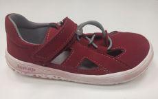 Jonap barefoot sandals B9MF burgundy SLIM