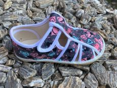 Jonap open gray slippers with hearts | 29.5