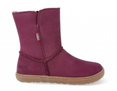 Barefoot winter boots KOEL4kids - DINA - burgundy | 28, 30, 37