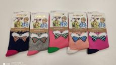 Childrens socks for girls - fox with a ribbon   24-27, 28-31, 32-35