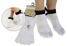 Finger socks for adults Prstan 01 - white   36-41