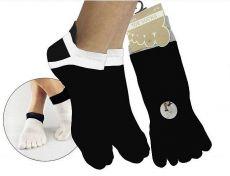 Finger socks for adults Prstan 01 - black   36-41, 42-46
