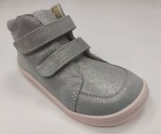Barefoot Baby bare shoes Febo Fall gray / pink glittering