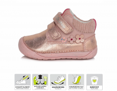 DDstep 070 year-round shoes - pink 520C | 20, 21, 23