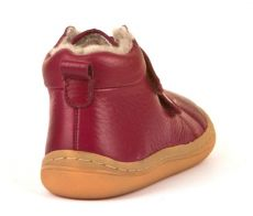 Barefoot Froddo barefoot winter ankle boots bordeaux with real fur