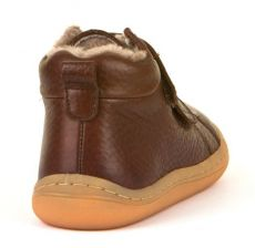 Barefoot Froddo barefoot winter ankle boots brown with real fur