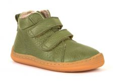 Barefoot Froddo barefoot winter ankle boots olive with real fur