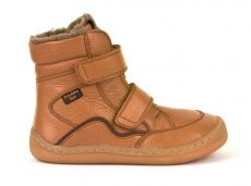 Froddo barefoot winter high boots cognac - with membrane | 23, 24, 25, 26, 27, 28, 29, 30, 31, 32, 33, 34, 35